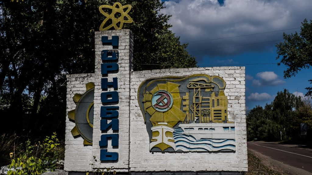 Town sign of Chernobyl