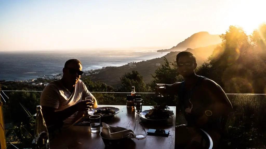 Vrisi restaurant views in Crete