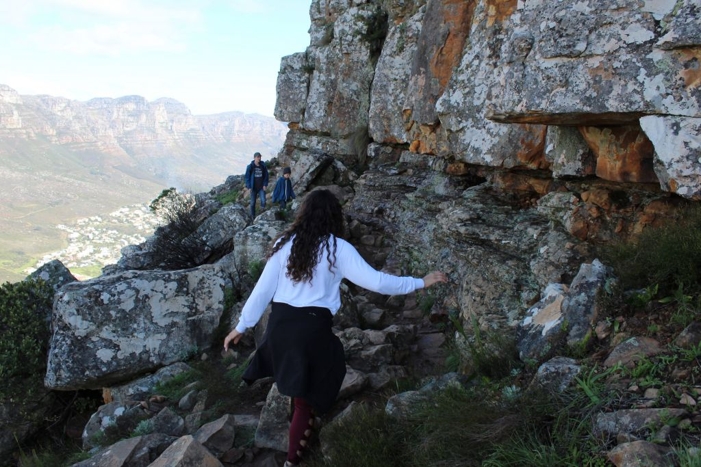 Climbing up Lion's Head Cape Town