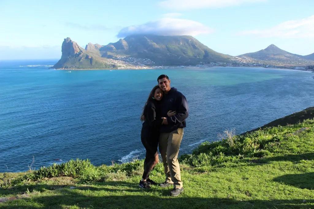 Driving down Chapman's Peak towards Cape Point