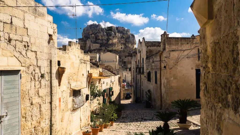 Matera Puglia Italy Streets
