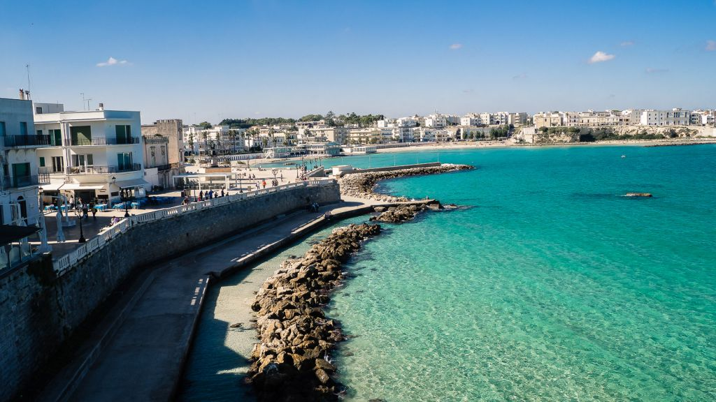 Otranto beautiful beach coastline and water