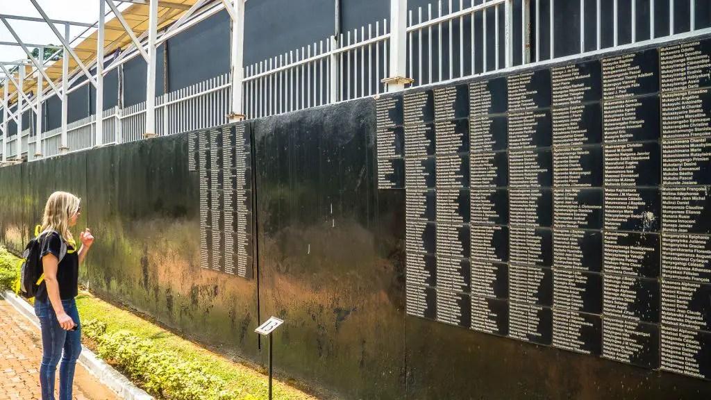 Wall of names kigali rwanda genocide memorial