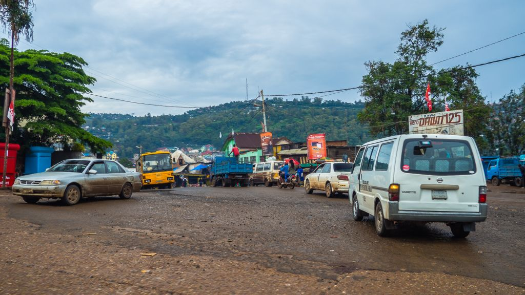 No roads to speak of in Bukavu