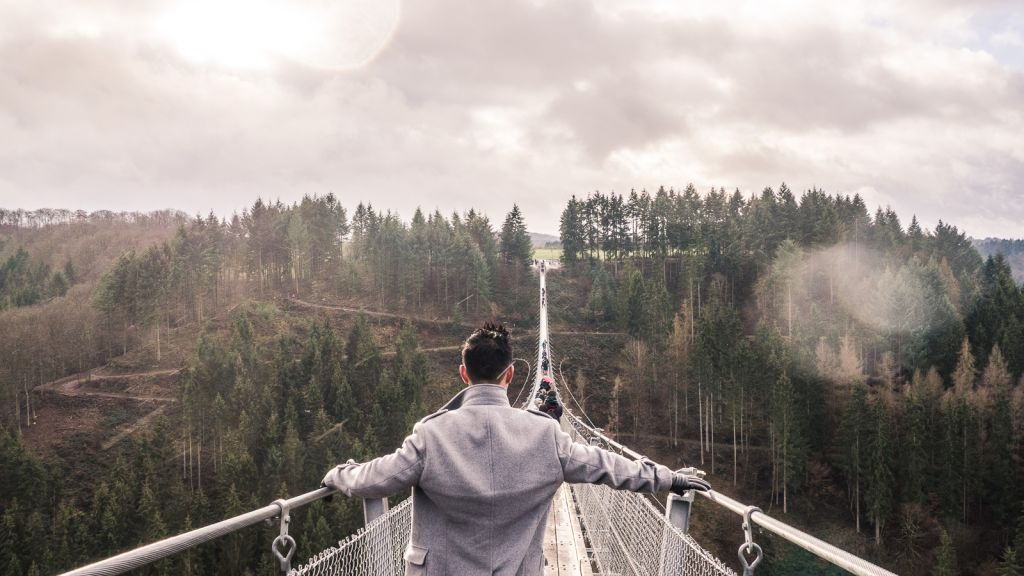The geierlay suspension bridge is one of the coolest things to do in the Rheinland Pfalz area. It is totally unexpected but when you do visit, you will be totally wowed!