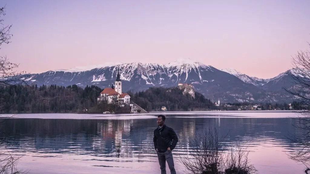 Sunset on Lake Bled