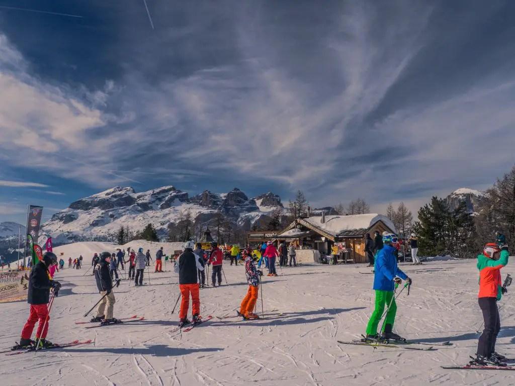 corvara alta badia skiing dolomites