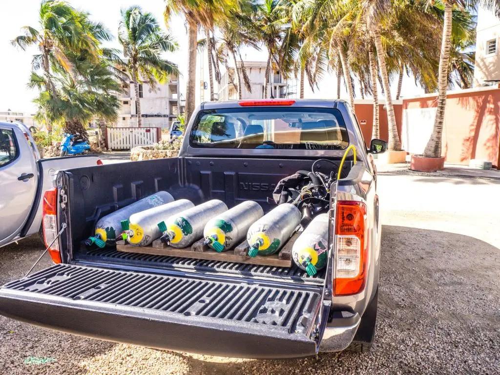 Bonaire scuba diving truck shore diving