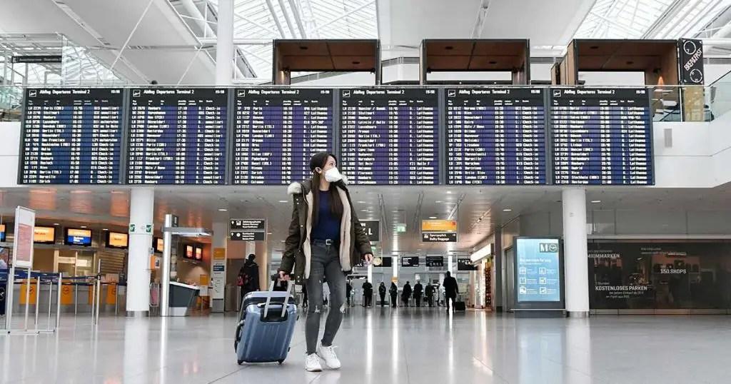 travel mask coronavirus covid airport flight