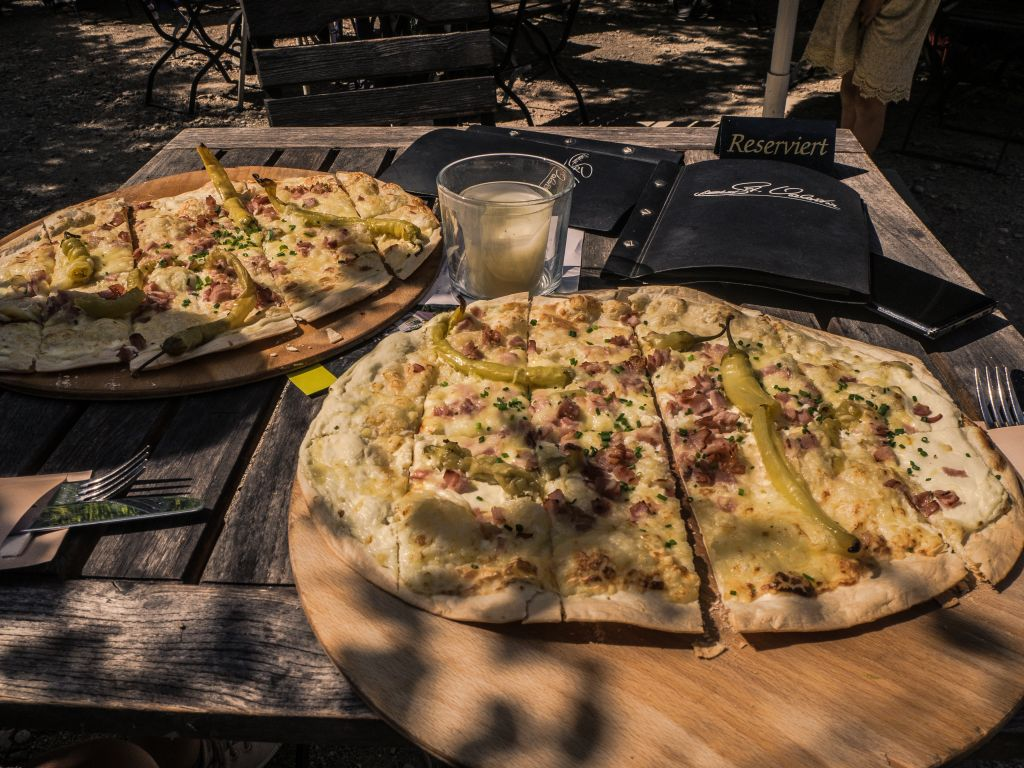 flammkuchen in the black forest germany