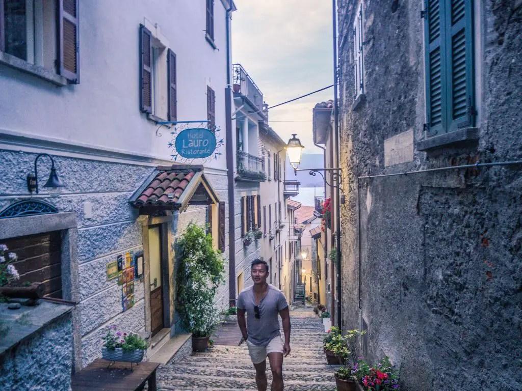 Lake Como empty streets