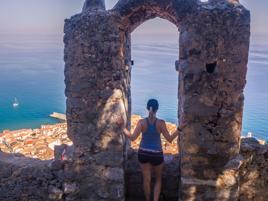 cefalu rocca views from the top