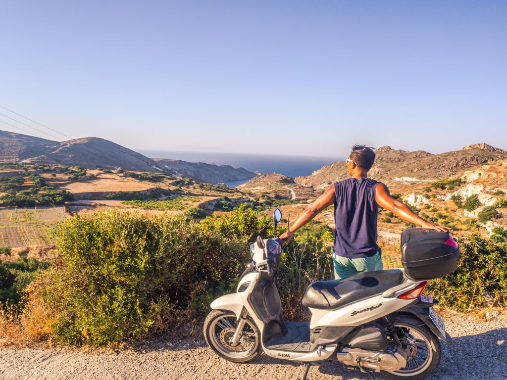 scooter in greece