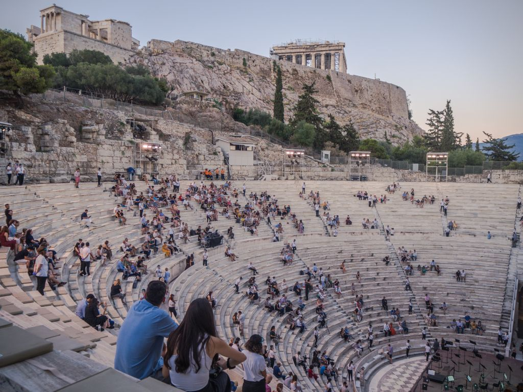 Odeon theater show summer athens
