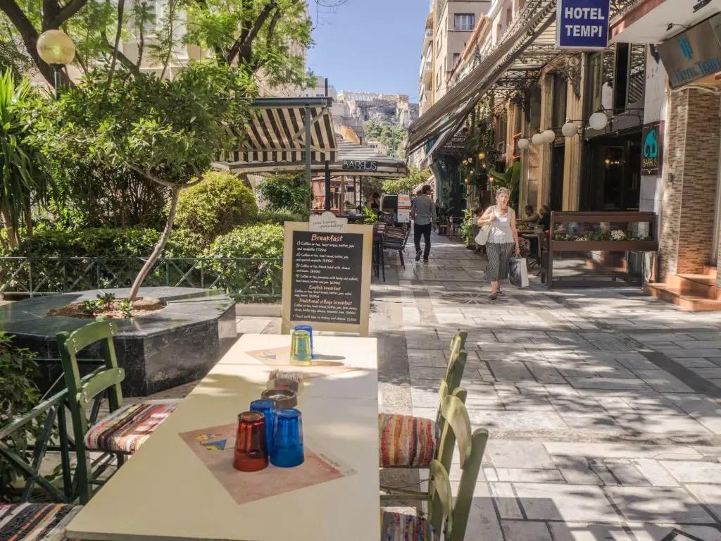 Athens restaurant square
