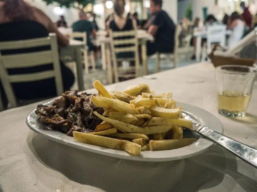 Folegandros chora dinner