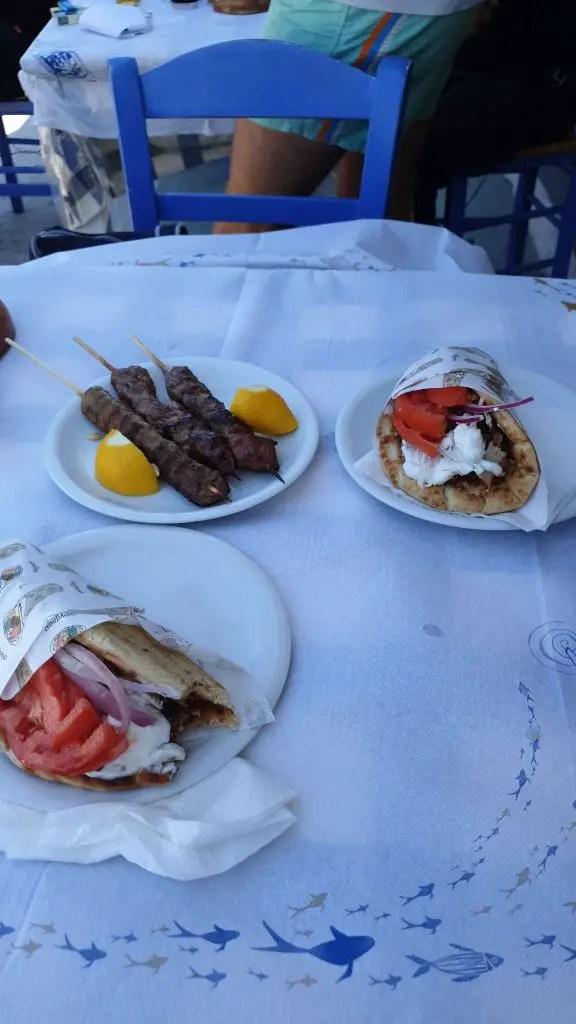 gyros and souvlaki greek ferries