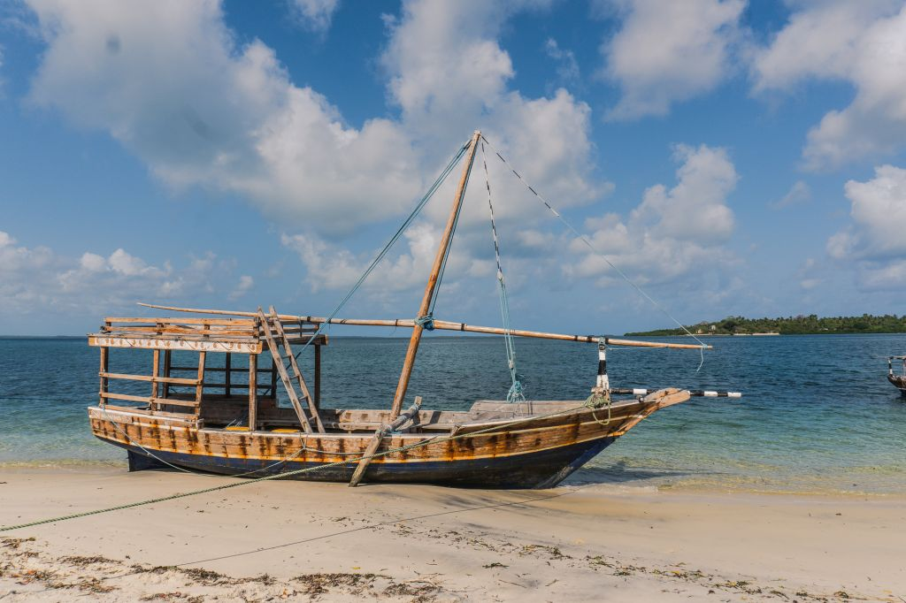 Mafia island tanzania dhow boat