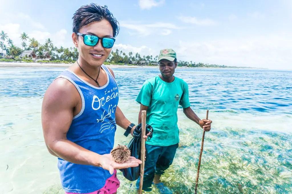 lowtide tour zanzibar reef