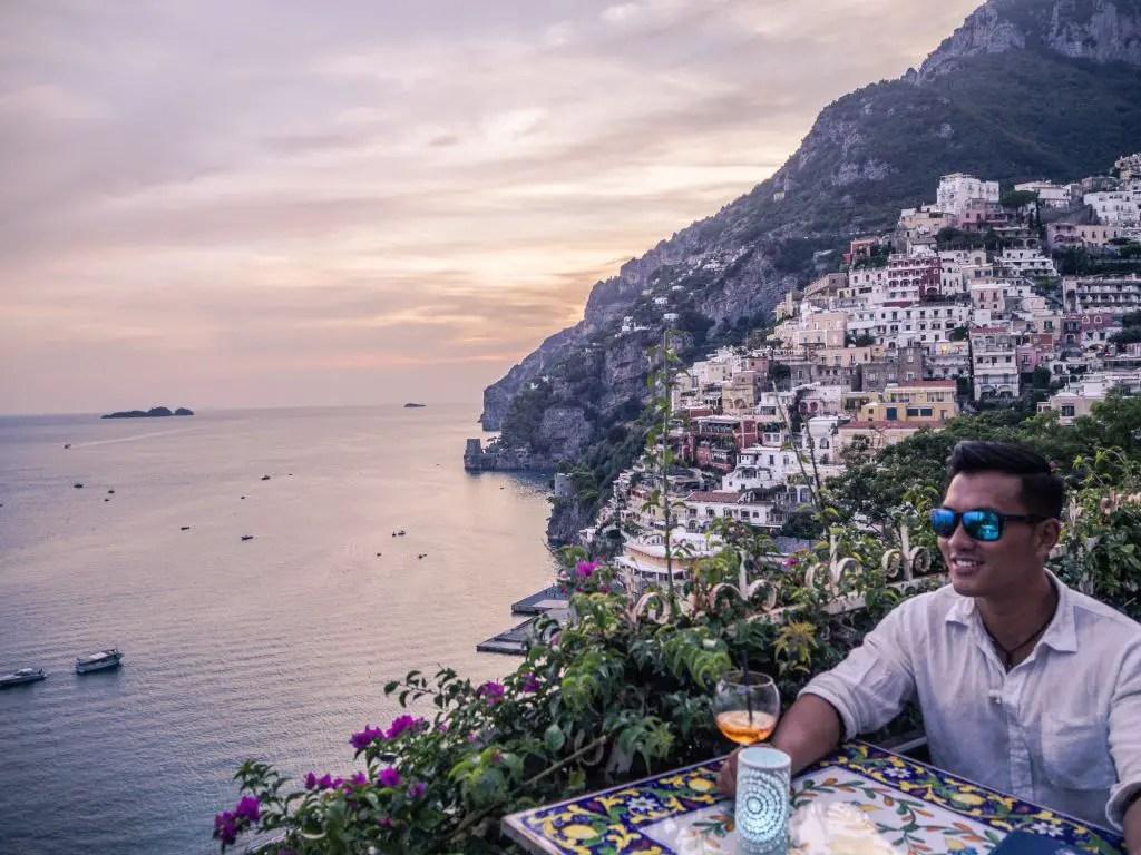 Positano beautiful view italy amalfi coast