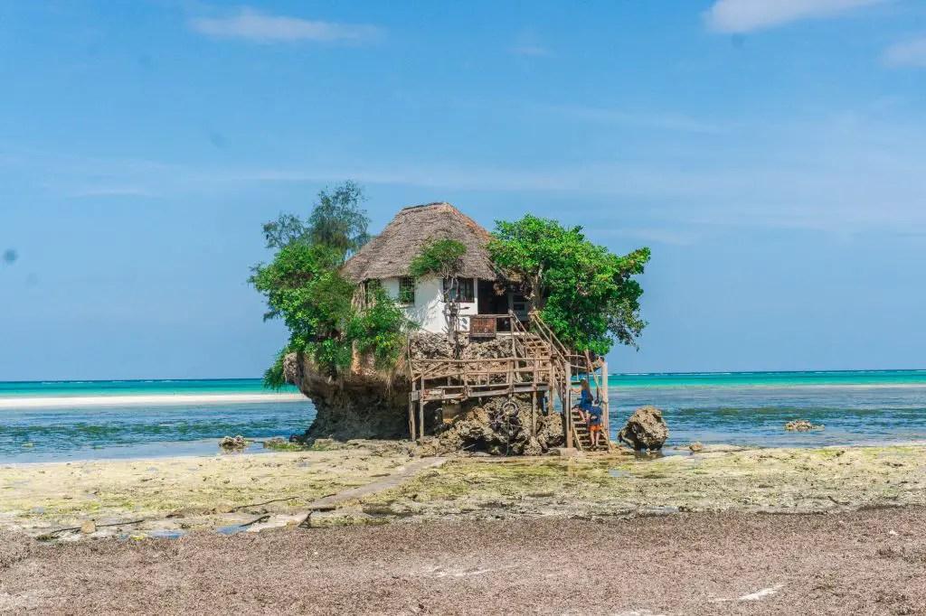 The rock restaurant zanzibar low tide