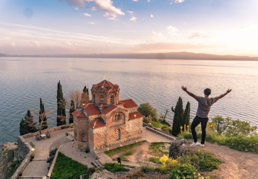 Lake ohrid church