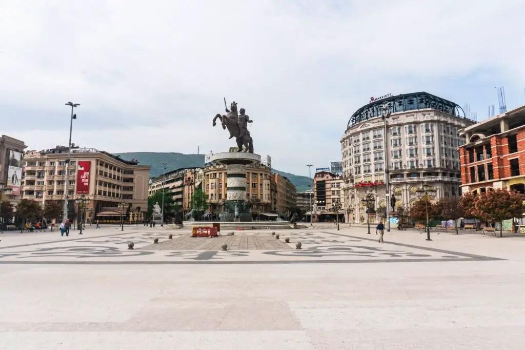 Alexander the Great statue Skopje