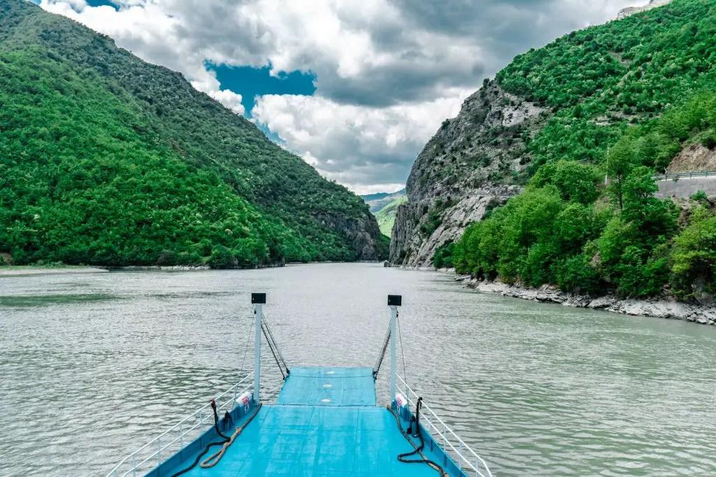 Komani Lake Ferry views