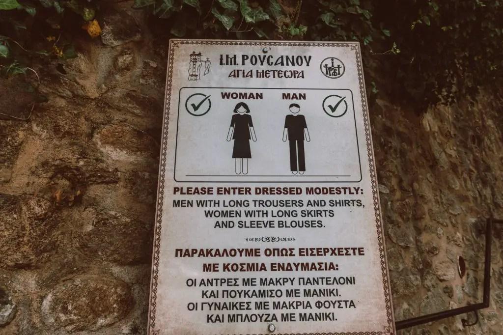 What to wear in Meteora Dress code