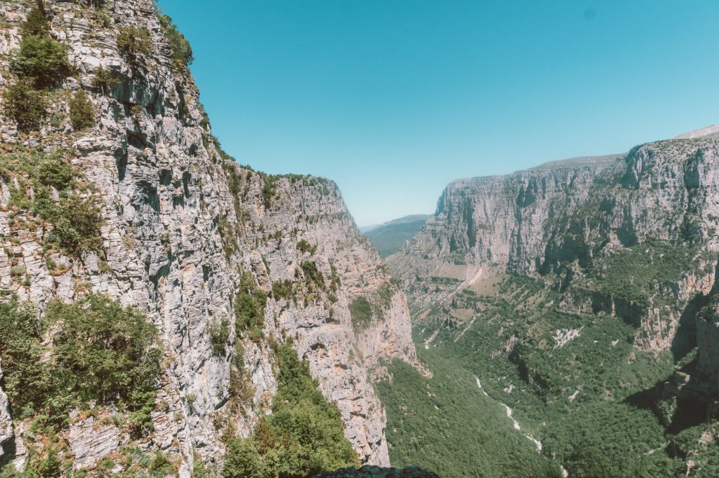 View of Vikos Gorge from Oxya viewpoint