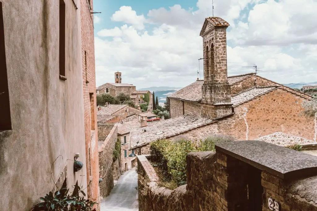 Montepulciano tuscany italy street