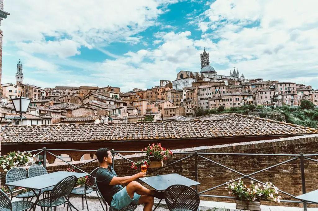 Beautiful Siena viewpoint