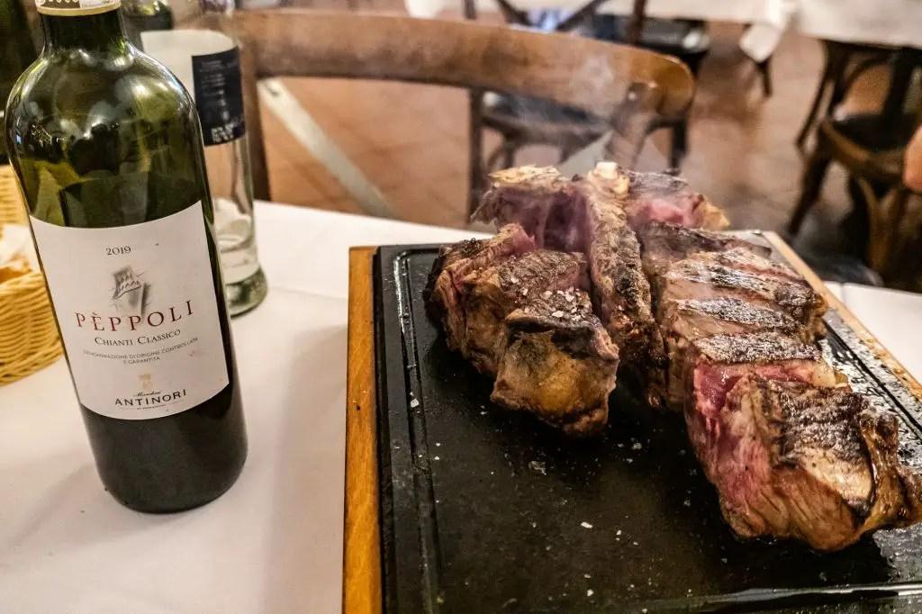 Florentine steak d'all oste florence