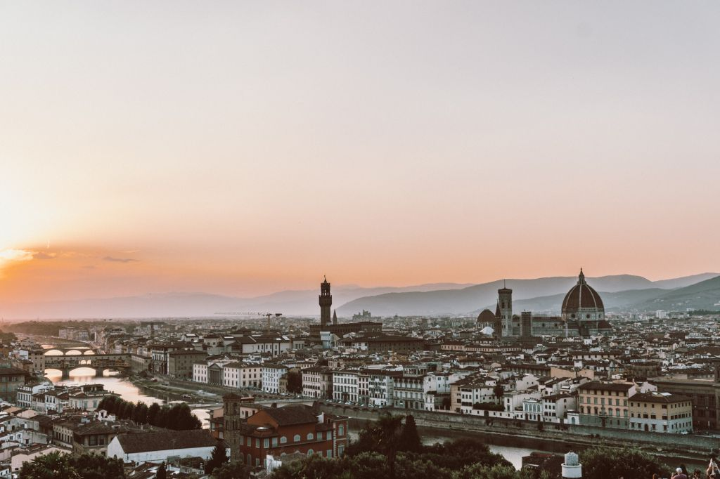 Florence sunset piazza michelangelo