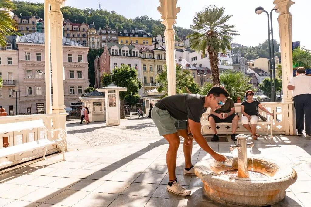 Karlovy Vary Czech republic spa water