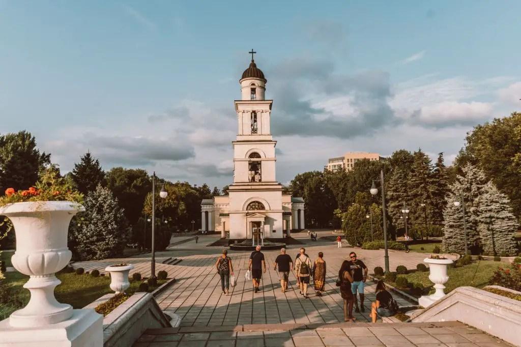 Chisinau park nativity monument