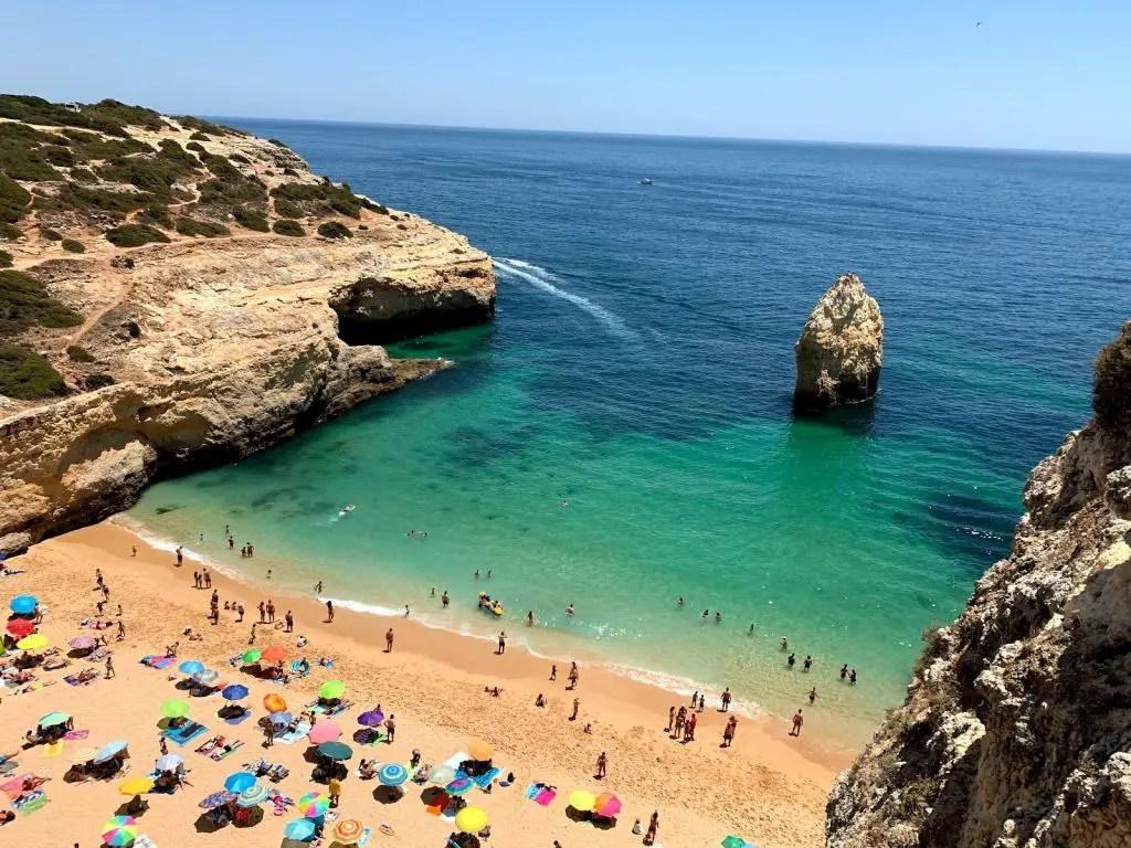 Praia do carvalho algarve portugal