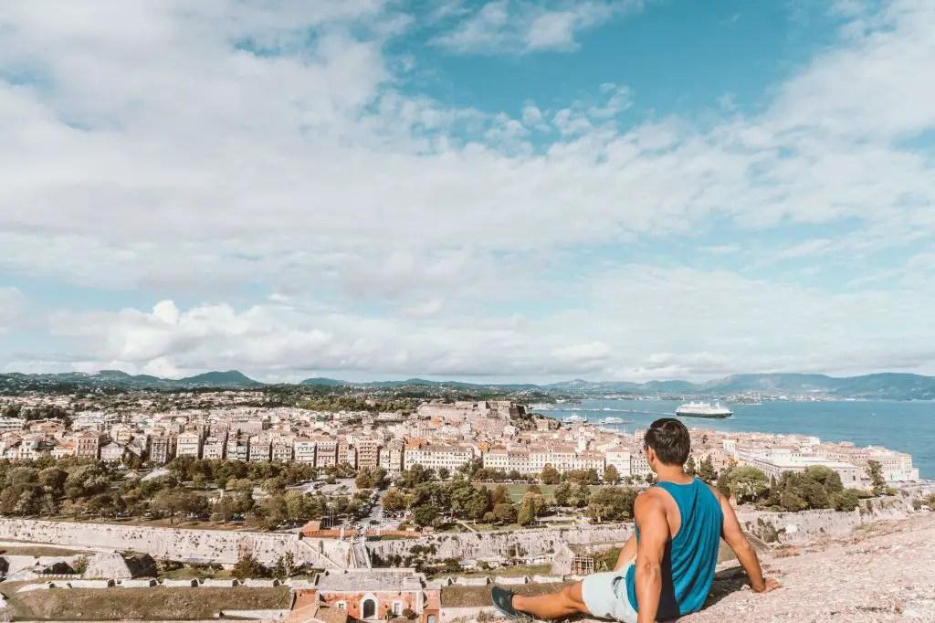 Old fortress corfu greece ionian islands