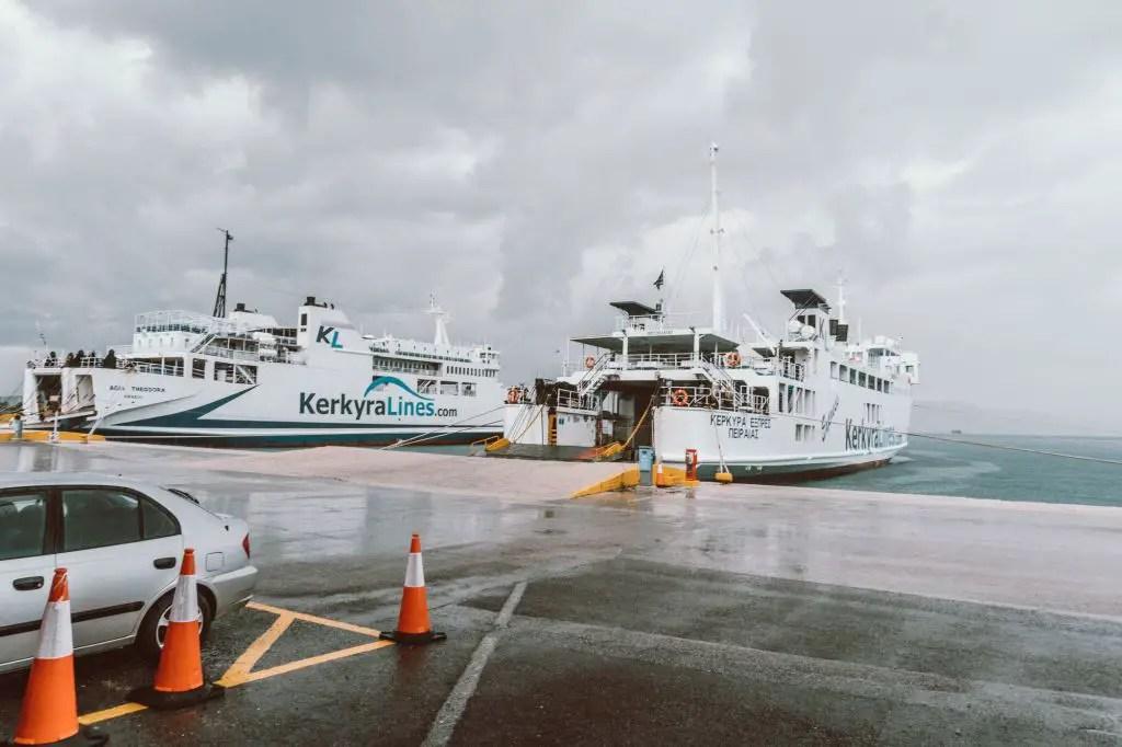 ferry station corfu