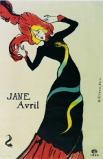 Jane Avril by Lautrec