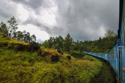 Train between Kandy and Nuwara Eliya, Sri Lanka