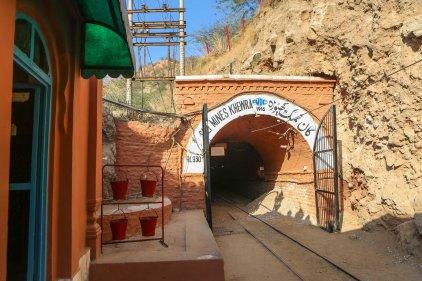 Salt mine in Khewra, Pakistan. Where the Himalaya salt comes from.