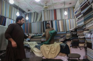Buing fabric for a shalwar kameez