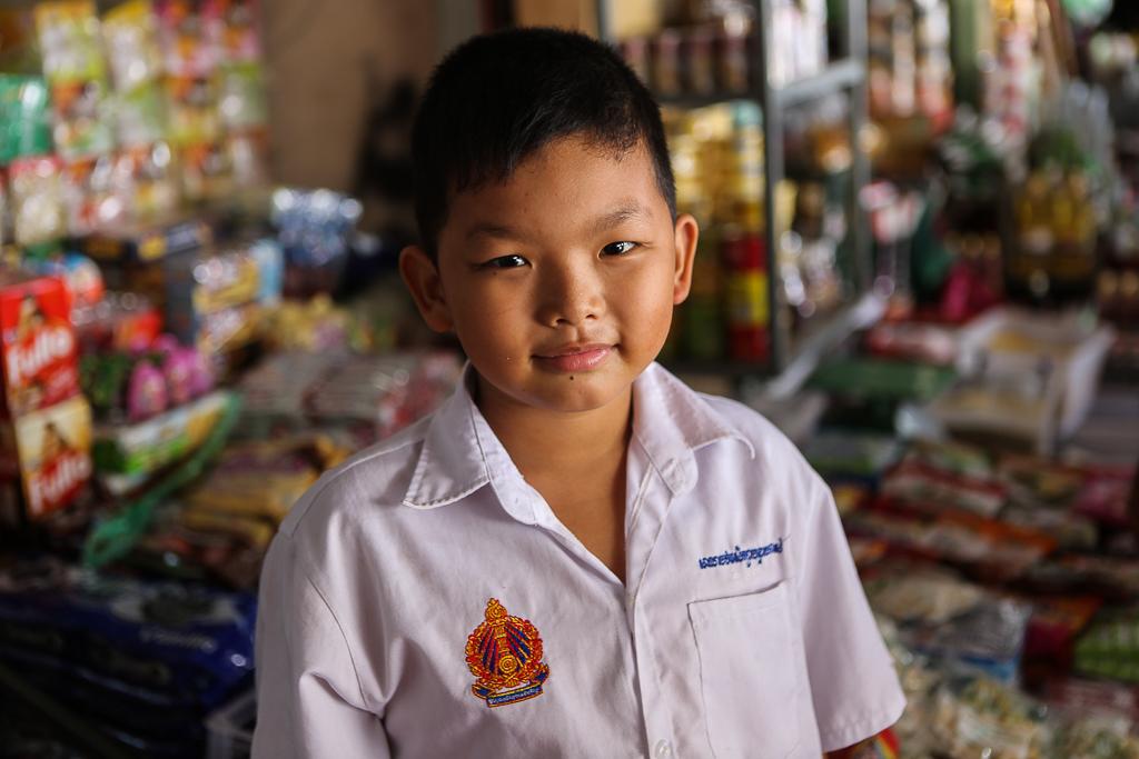 Siem Reap Market Boy selling coffee-1