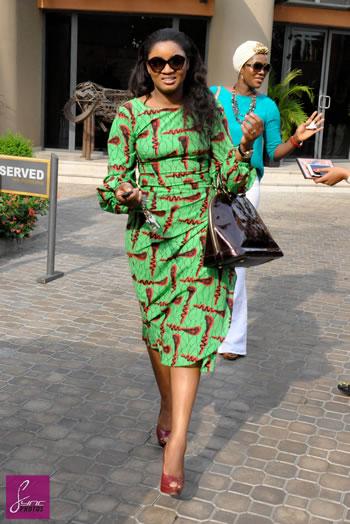 Omotola-Jalade-Green-Print-Dress-FashionPoliceNigeria-1