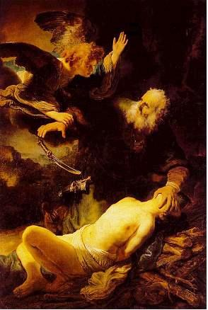 The Sacrifice of Isaac, by Rembrandt