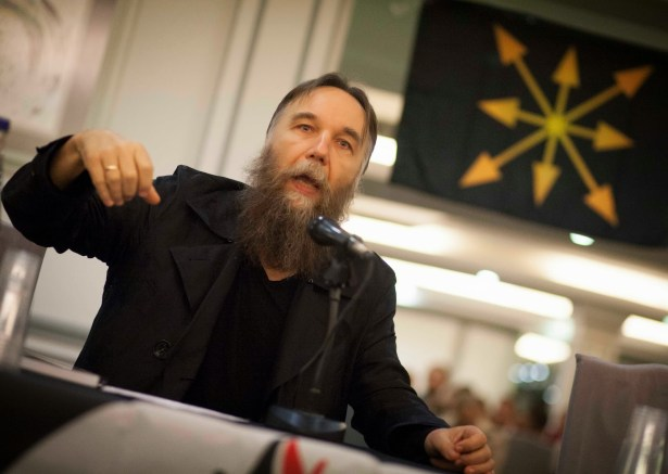 Dugin with his flag
