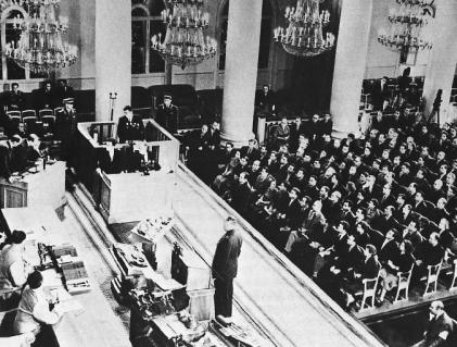 """Kangaroo-court """"trial"""" of Francis Gary Powers in August of 1960. This national humiliation was made possible by technology Julius Rosenberg gave the Soviet Union."""