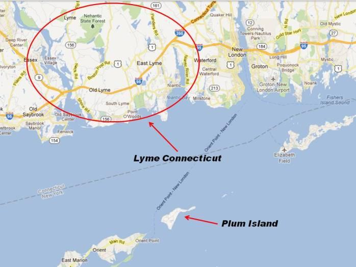 the Plum Island - Lyme Connecticut connection