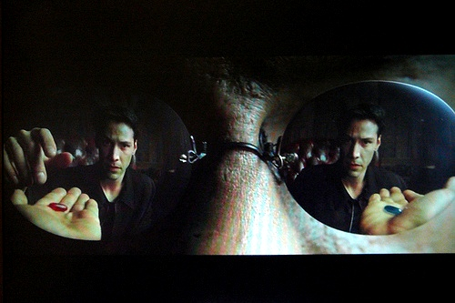 Morpheus--''the blue pill, or the red pill''